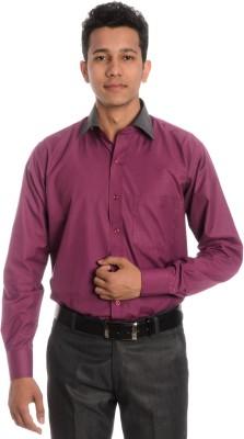 Tag & Trend Men's Solid Formal Pink Shirt