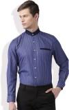 Invictus Men's Striped Formal Dark Blue,...