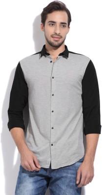 Arrow New York Men's Solid Formal Black, Grey Shirt