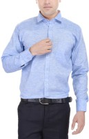 Black Mirror Formal Shirts (Men's) - Black Mirror Men's Self Design Formal Blue Shirt