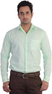 Mild Kleren Men's Solid Casual Green Shirt