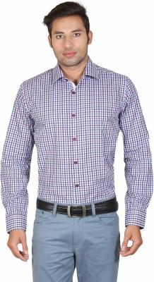 Don Vino Men's Checkered Casual Blue, Purple, White Shirt