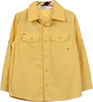 Beebay Baby Boys Solid Casual Yellow Shirt