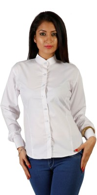 James Scot Women's Solid Formal White Shirt