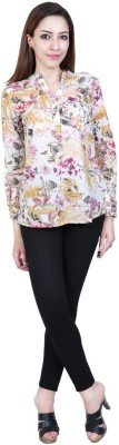 Urban Religion Women's Self Design Casual Multicolor Shirt