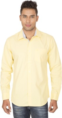 SmartCasuals Men's Solid Casual Yellow Shirt