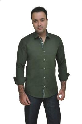 Kings Republic Men's Solid Casual Green Shirt