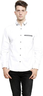 NFC Men's Solid Casual White Shirt