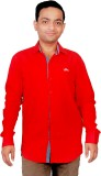 Gayo Fashion Men's Solid Casual Red Shir...