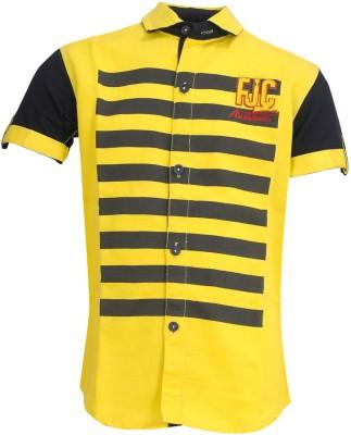 Font Kids Boy's Solid Casual Yellow Shirt