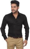 GlobalRang Men's Solid Casual Black Shir...