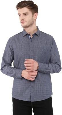 FUNK Men's Self Design Casual Grey Shirt