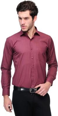 Nexq Men's Solid Formal Maroon Shirt