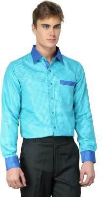 MNW Men's Solid Casual Green Shirt