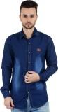 Vero Men's Woven Casual Denim Dark Blue ...