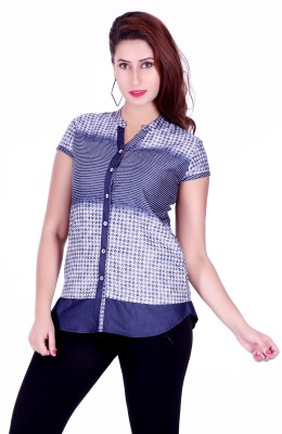 Go4it Women's Printed Party Blue Shirt