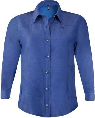 Wildcraft Women's Solid Casual Blue Shirt