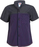Ice Boys Boys Printed Casual Purple Shir...