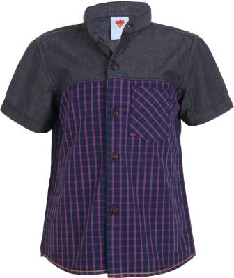 Ice Boys Boy's Printed Casual Purple Shirt