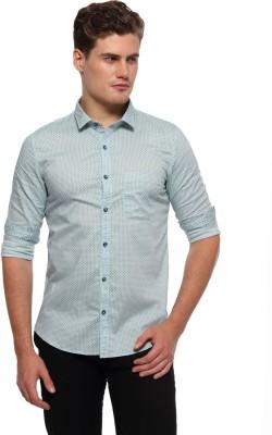 Marc N, Park Men's Printed Casual Light Green Shirt