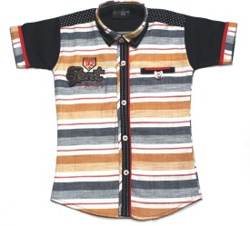 Empire Apparels Boys Embroidered Casual Orange Shirt