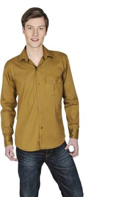 Poker Dreamz Men's Solid Formal Beige Shirt