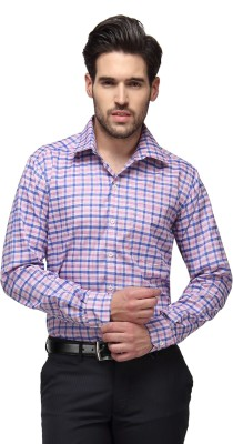 Copperline Men's Checkered Casual Pink Shirt