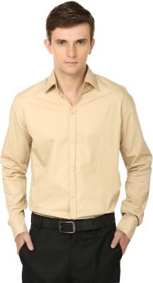 Ben Carter Men's Solid Formal Beige Shirt
