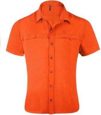 Wildcraft Men's Checkered Casual Orange Shirt