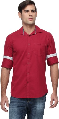 Cross Creek Men's Solid Casual Red Shirt