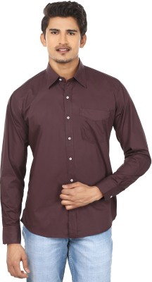 Modish vogue Men,s Solid Casual Brown Shirt