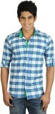 Nexq Men's Checkered Casual Blue, Green ...