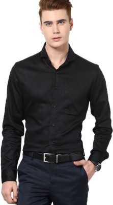 I Know Men's Solid Casual Black Shirt