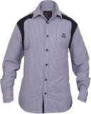 Stoke Men's Checkered Casual Purple Shir...
