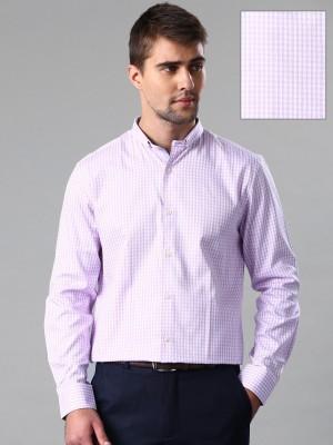 Invictus Men's Checkered Formal Purple Shirt