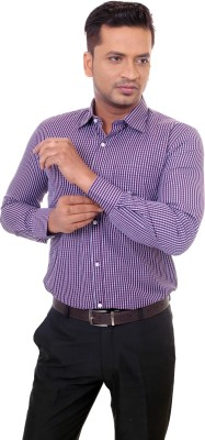 Countryside Men's Checkered Formal Purple, Brown Shirt
