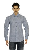 Binnote Men's Printed Casual Grey Shirt