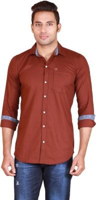 Alamurit Men's Self Design Casual Brown Shirt