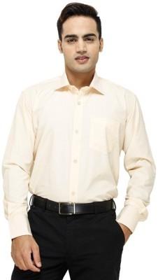 FranklinePlus Men's Solid Formal Orange Shirt