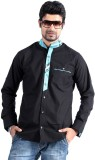 S9 Men's Solid, Checkered Casual Black, ...