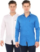 Club Martin Formal Shirts (Men's) - Club Martin Men's Solid Formal White Shirt(Pack of 2)