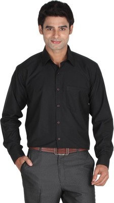 Lagnesh Men's Solid Formal Black Shirt