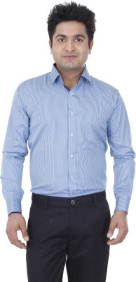 Aces Blue Men's Checkered Formal Light Blue Shirt