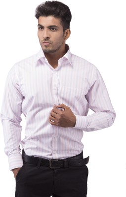 Indian Weller Men's Striped Formal Multicolor Shirt