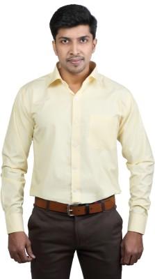 Basil Men's Solid Formal Yellow Shirt