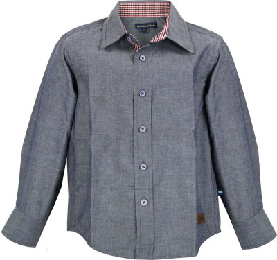 Bells and Whistles Boy's Printed Casual Grey Shirt