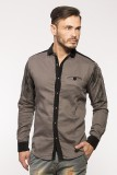 Royalion Men's Printed Casual Brown Shir...