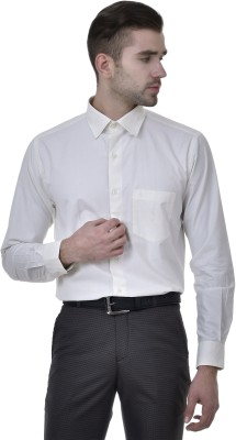 Kingswood Men's Solid Formal White, Yellow Shirt