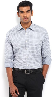 Nord51 Men's Checkered Formal Grey Shirt