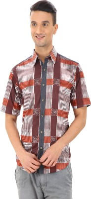 Woodin Men's Printed Casual Multicolor Shirt